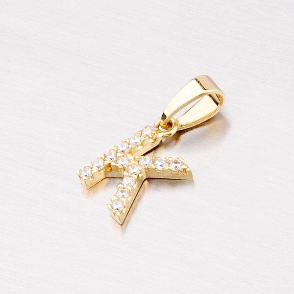 Zlatý přívěsek - písmeno K 13-152-K