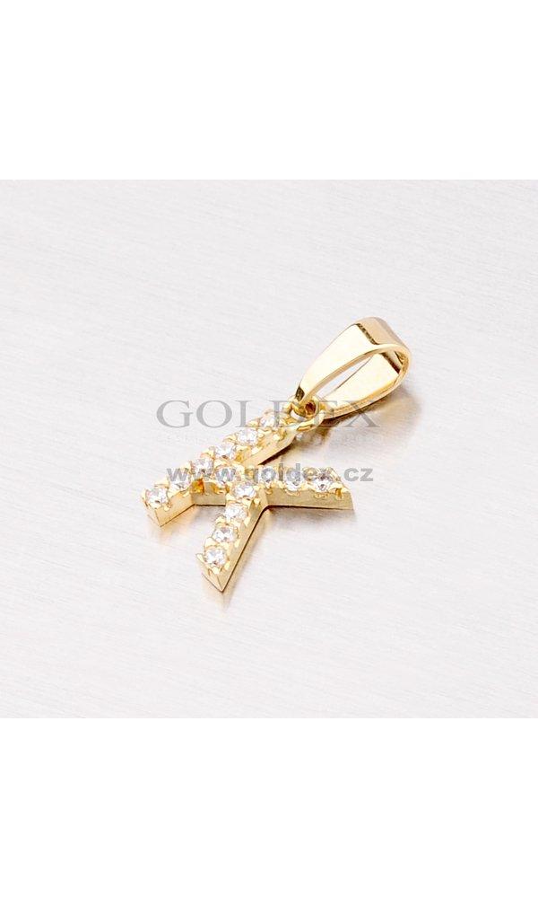 84ffe5aac Zlatý přívěsek - písmeno K 13-152-K : Goldex.cz