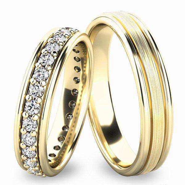 Snubní prsteny ze žlutého zlata SP-61053Z