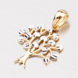 Zlatý stromeček s gravírováním 43-21385