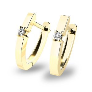 Náušnice s diamanty 10892-ZL