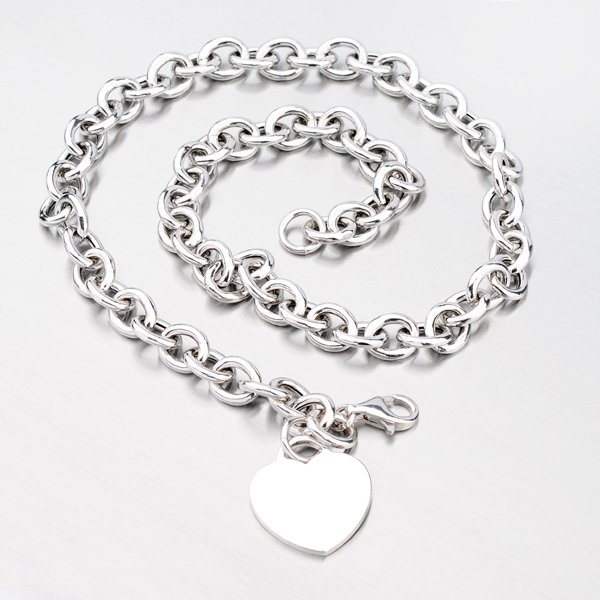Stříbrný náhrdelník se srdíčkem N1300444-1264-SLX