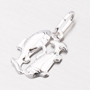 Stříbrný přívěsek - Ryby M5014-02