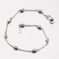 Stříbrný náramek s oválnými ozdobami CHRS-STATION-OVMOON-003-NAR