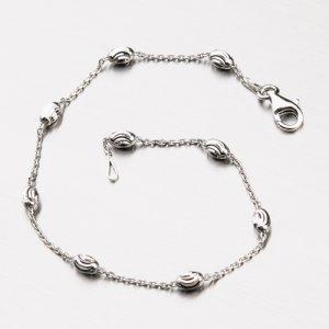 Stříbrný náramek s oválnými ozdobami CHRS-STATION-OVMOON-003