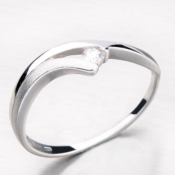 Krásný prsten se zirkonem DZ1718-B