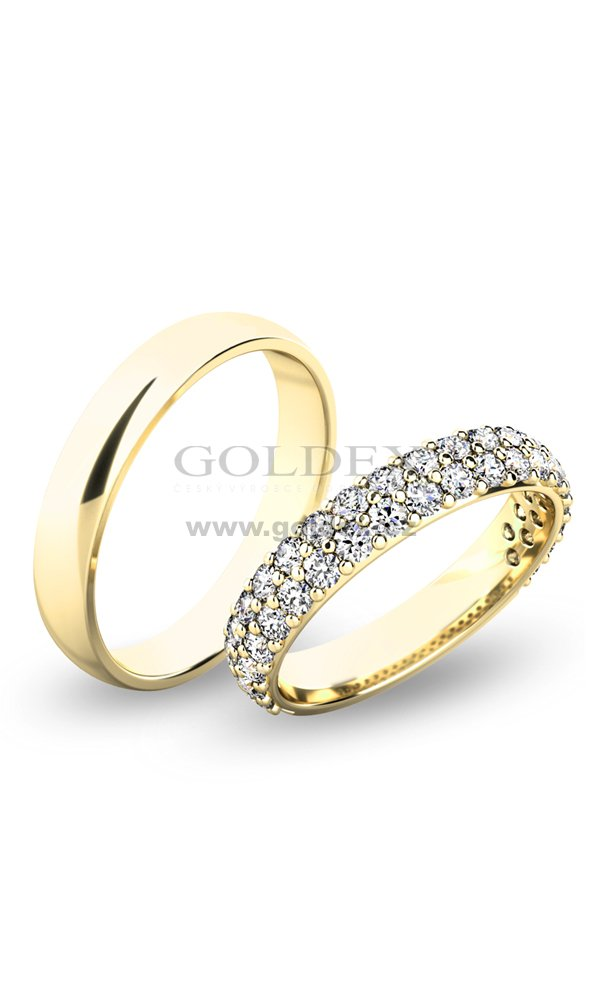 Snubni Prsteny Bile Zlato Sp 61060 Goldex Cz
