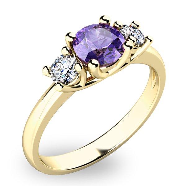 Dámský prsten s tanzanitem a diamanty 10803Z-TZNT