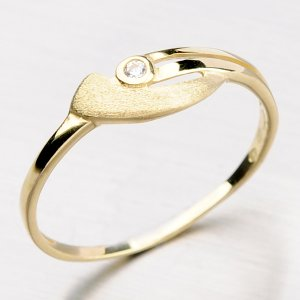 Zlatý prsten se zirkonem DZ1662-ZL