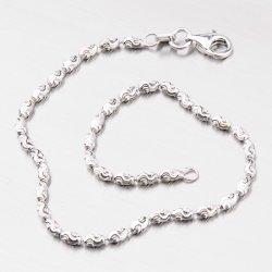 Krásný stříbrný náramek CHRS-RICE-TYPHOON-002