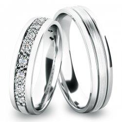 Snubní prsteny bílé zlato SP-61052