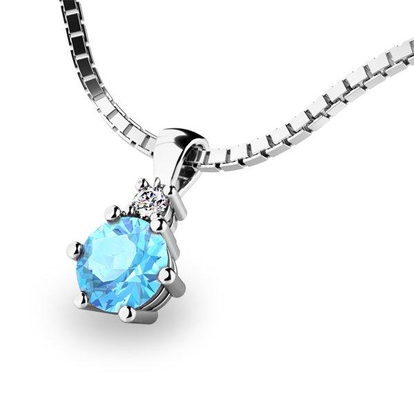 Přívěsek s topazem a diamantem 10859B-TPZ