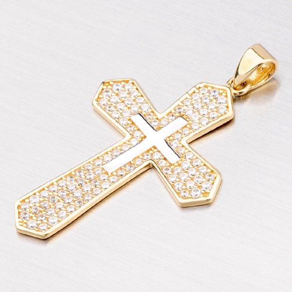 Přívěsek ze zlata ve tvaru kříže 13-144