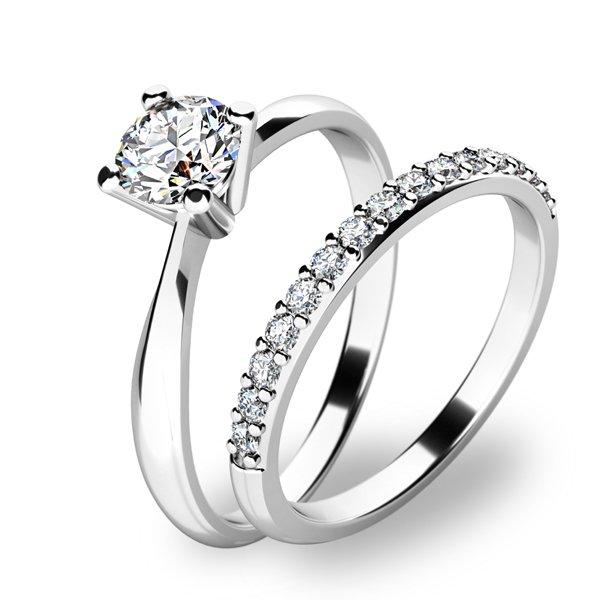 Krásný set zásnubních prstenů 10770-SET01-BB