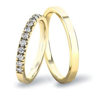 Snubní prsteny ze žlutého zlata SP-61061