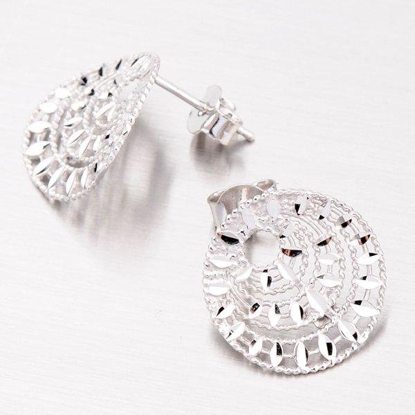 Stříbrné náušnice s facetami E1504253-2142-SLX