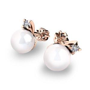 Pecky s perlami a diamanty 10890-CV-FW