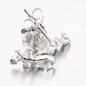 Stříbrné pecky ve tvaru ještěrky M604568