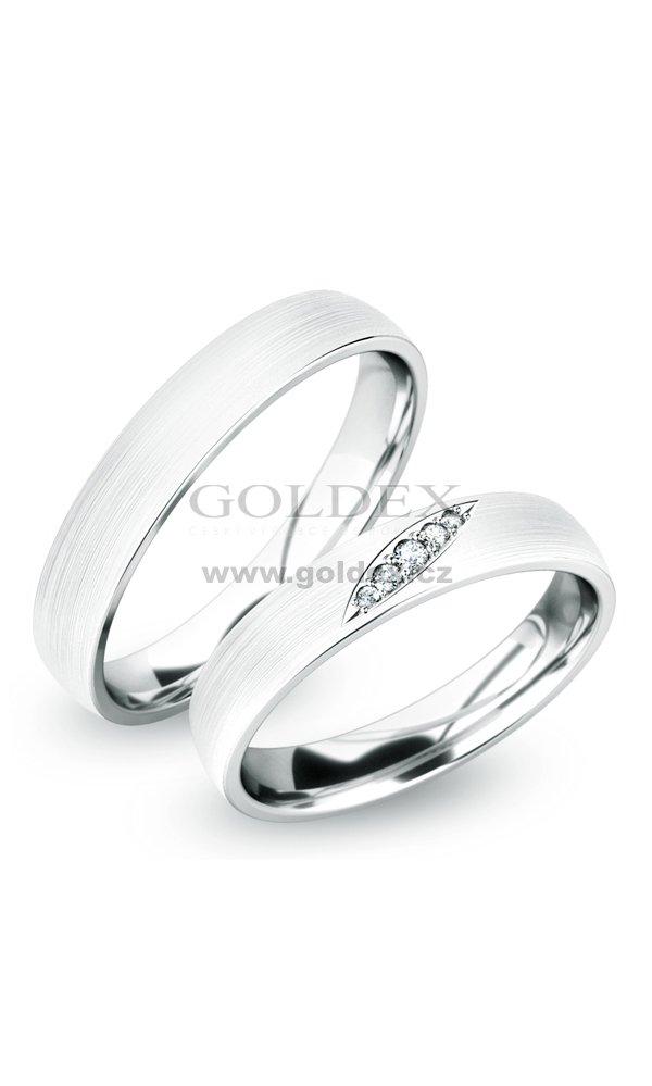 Snubni Prsteny Stribro Sp 61038 Ag Goldex Cz