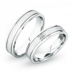 Snubní prsteny ze stříbra SP-61055-Ag