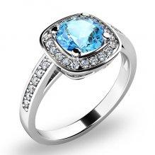 Dámský prsten s topazem a brilianty 10766-B-TPZ