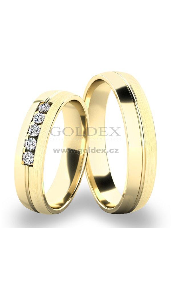 Zlate Snubni Prsteny Sp 287 Goldex Cz
