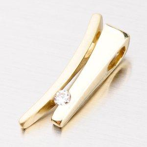 Elegantní přívěsek ze žlutého zlata DZ1702ZL