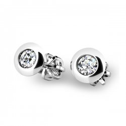Diamantové náušnice z bílého zlata 10825-B