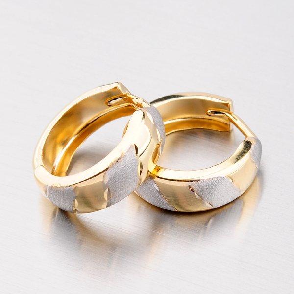 Zlaté kroužky s gravírováním - 13 mm 12-263