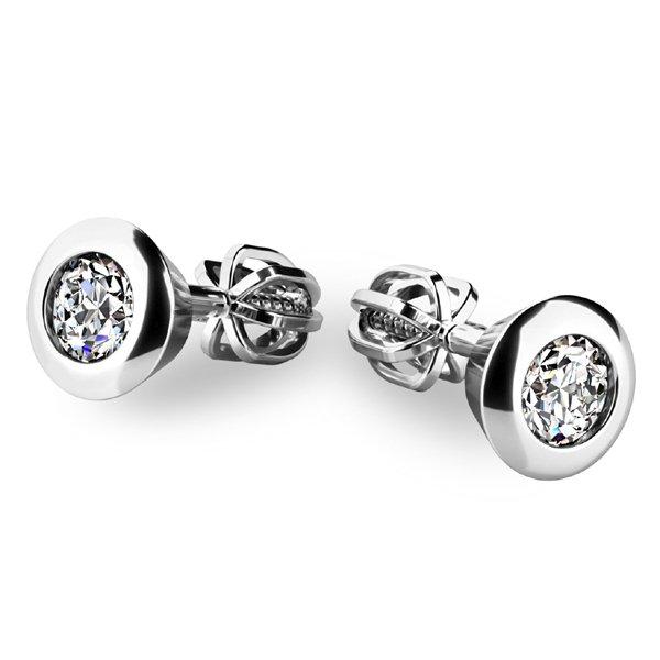 Zlaté náušnice s diamanty 10907-B