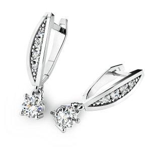 Visací náušnice a diamanty 10871-B