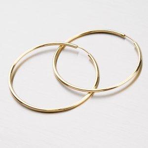 Kruhy zlaté - 40 mm 12-246