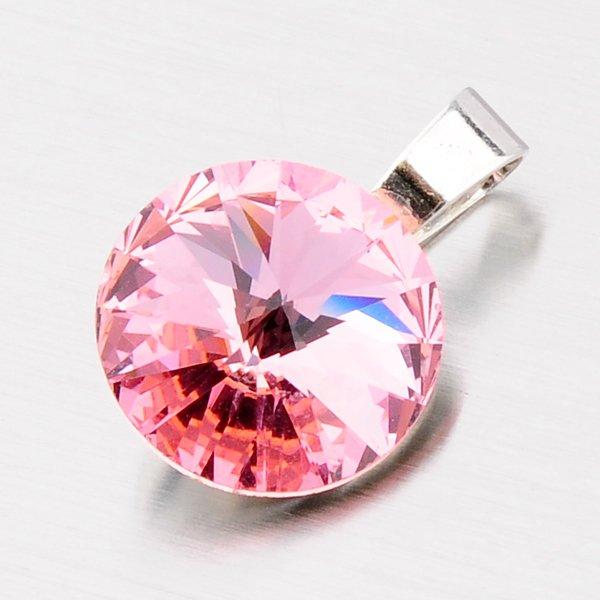 Přívěsek s růžovým krystalem D113R-JK