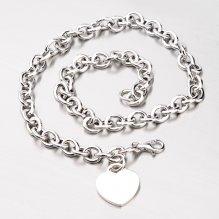 Stříbrný náhrdelník se srdcem YNG5035