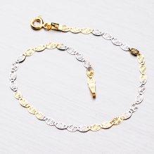 Zlatý náramek s kytičkami 44-1060