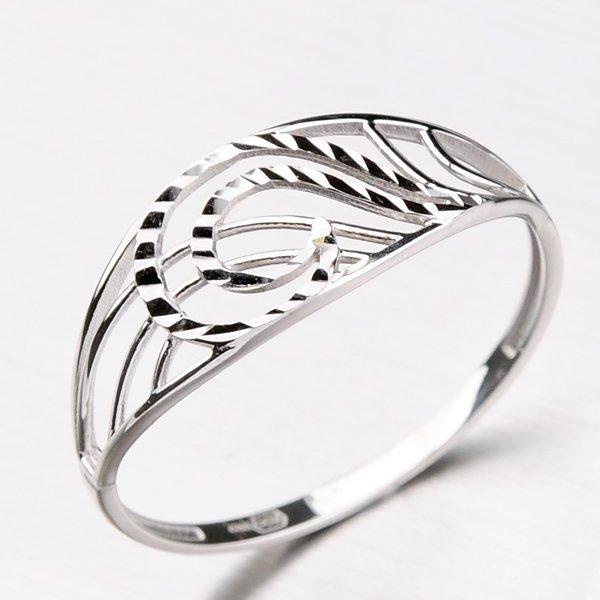 Zdobený prsten ze zlata 11-126