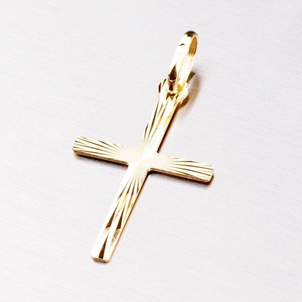 Zlatý přívěsek ve tvaru kříže 13-017