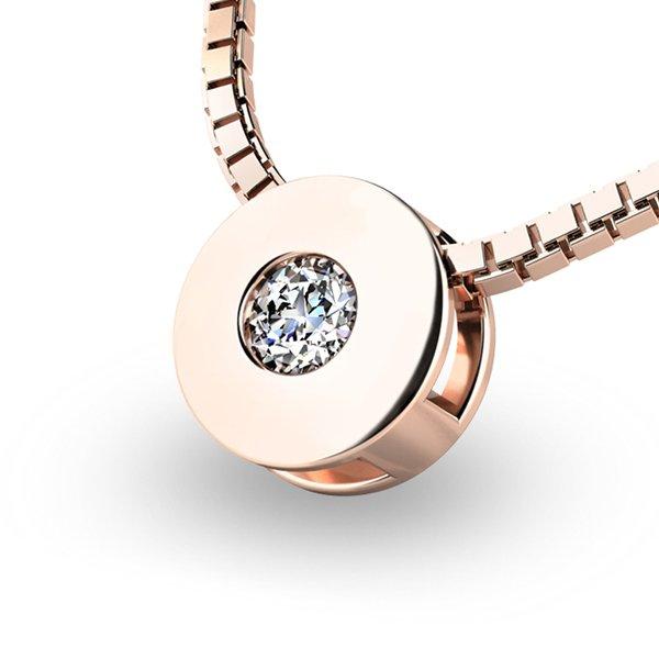 Přívěsek s diamantem z bílého zlata 10912-CV