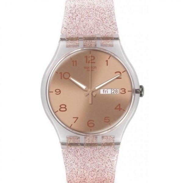 Hodinky Swatch Pink Glistar SUOK703