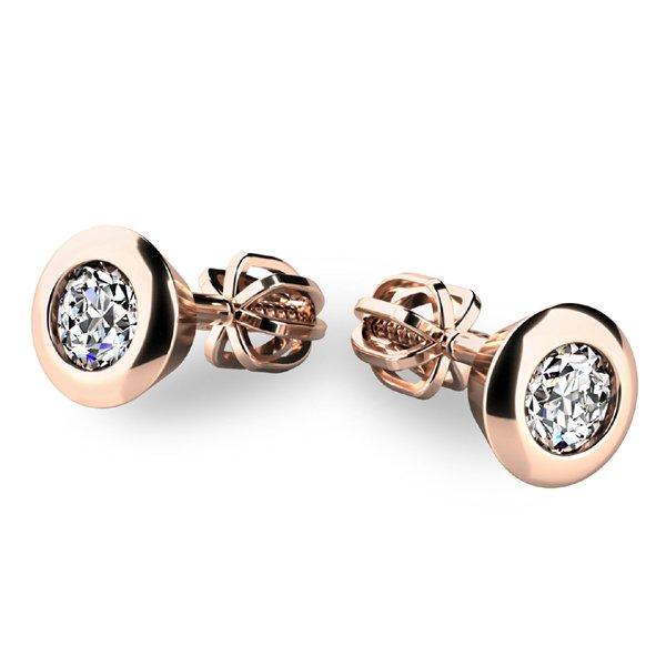 Zlaté náušnice s diamanty 10907-CV