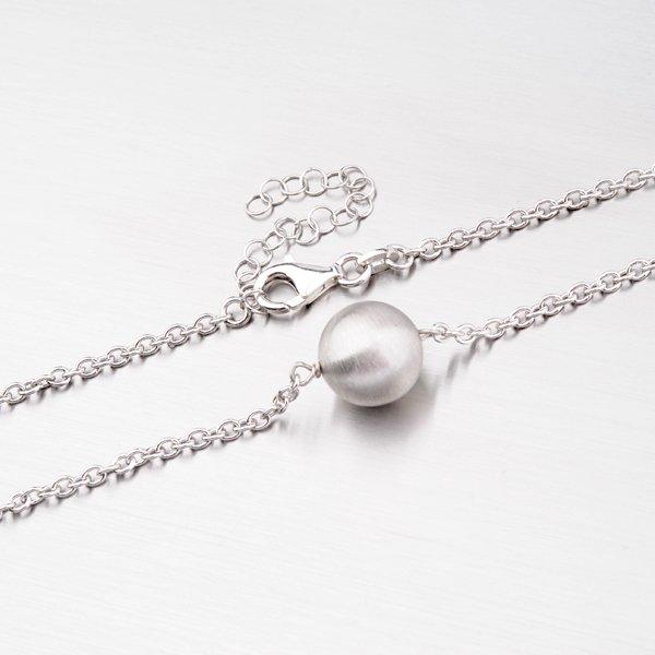 Stříbrný náhrdelník s kuličkou MCL1736BD12