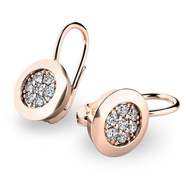 Diamantové náušnice z růžového zlata 10902-CV