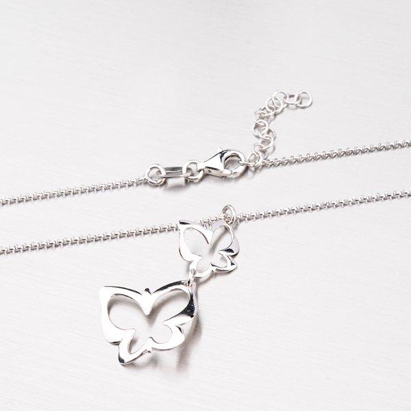 Stříbrný náhrdelník s motýli N1401574-0331-SLX