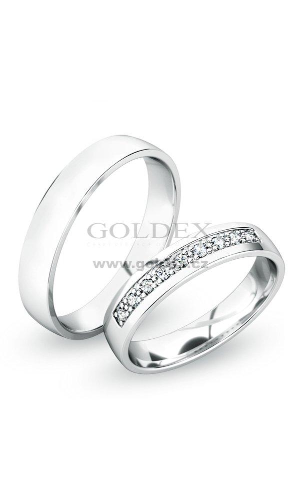 Snubni Prsteny Stribrne Sp 61058 Ag Goldex Cz