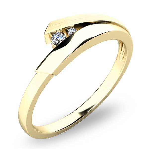 Zlatý prsten s brilianty 10864