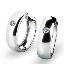 Náušnice kruhy s diamanty 10916-B