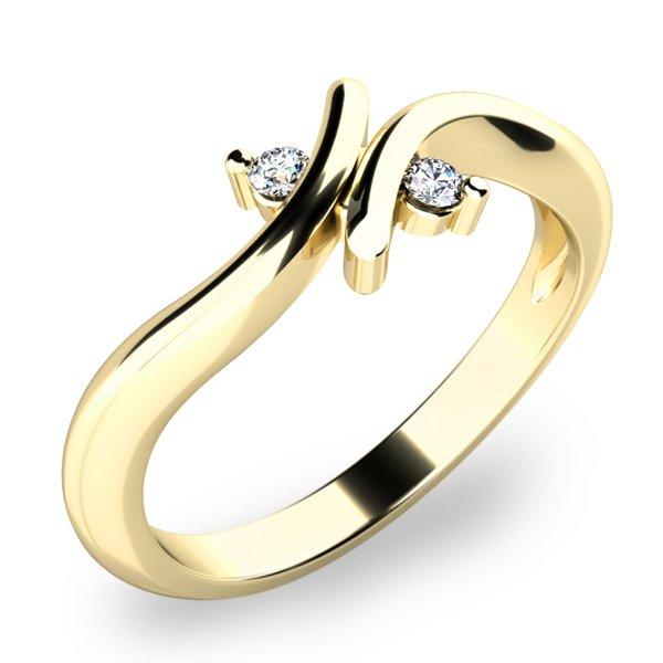 Prsten s diamanty 10850