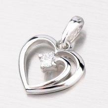 Srdíčko z bílého zlata DZ1602B