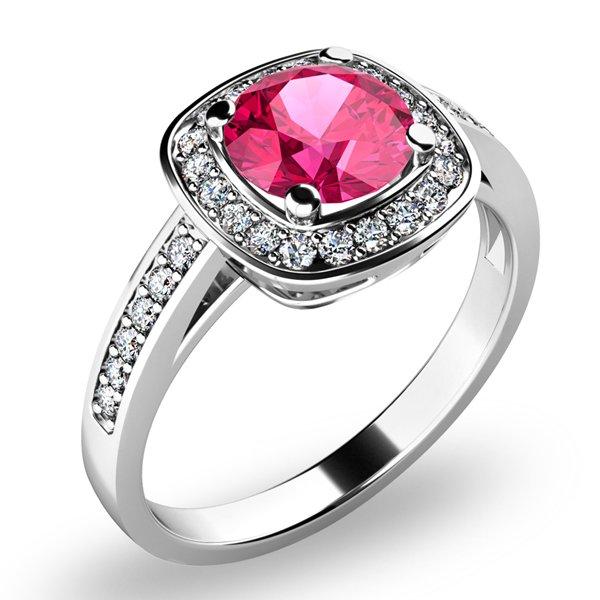 Dámský prsten s turmalínem a brilianty 10766-B-TUR