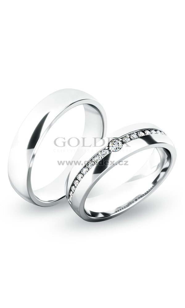Snubni Prsteny Stribro Sp 61054 Ag Goldex Cz